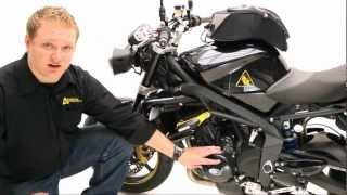 8. 2012 Triumph Street Triple R customized with accessories by Twisted Throttle