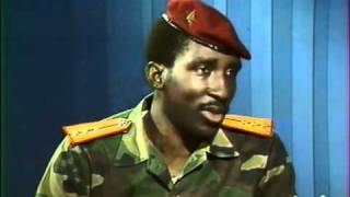 Entretien télé avec le president du Burkina Faso, Thomas Sankara.