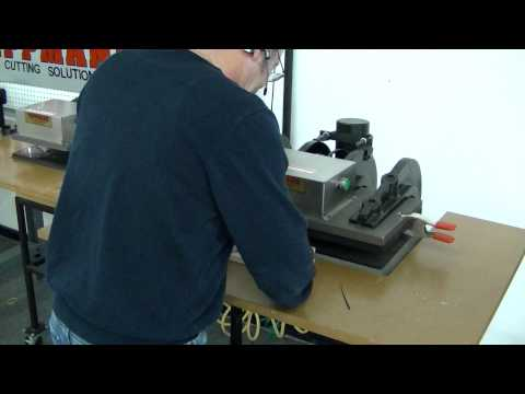 Tippmann Clicker steel rule die cutting press cutting rubber using a steel rule cutting die