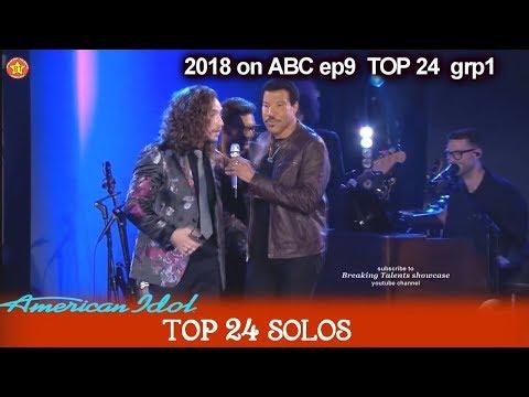 "Brandon Diaz and Lionel Richie Impromptu  DUET ""Hello""  American Idol 2018 Top 24 Solo"