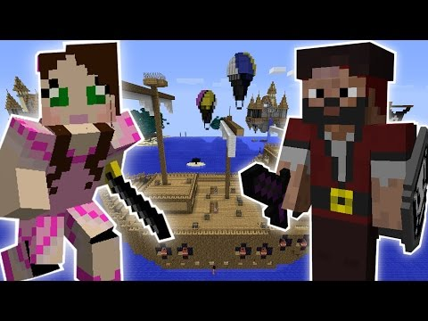 Minecraft: STEALING A PIRATE SHIP QUEST – Custom Mod Challenge [S8E17]