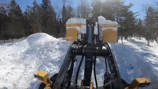 6. 624K John Deere pushing snow, read description