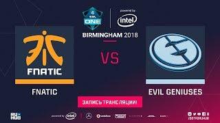 Fnatic vs Evil Geniuses, ESL One Birmingham [Maelstorm, Inmate]