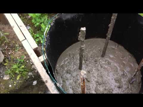 на столбчатый фундамент сколько нужно бетона