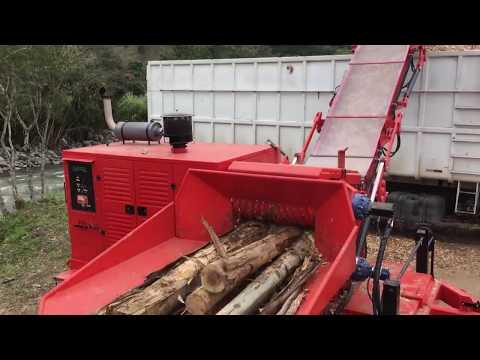 Picador de Madeira Florestal picando toras de grande diâmetro - RAPTOR 900