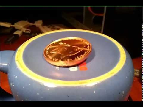 slow motion spinning dogecoin