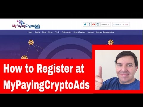 MyPayingCryptoAds How to Register with MPCA