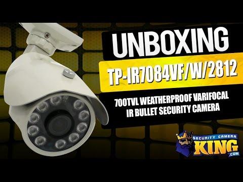 Unboxing - 700TVL Weatherproof Varifocal IR Bullet Security Camera - TP-IR7084VF/W/2812