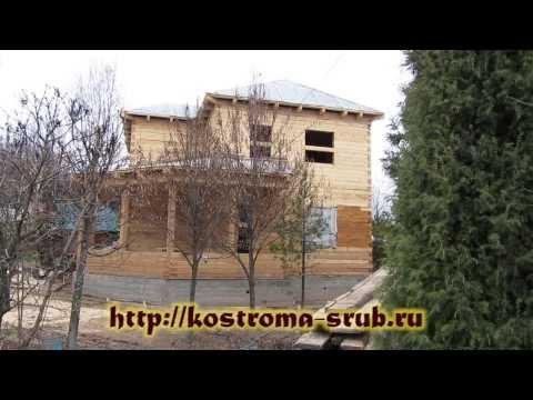 Дом из бруса 9х9 с выносной верандой
