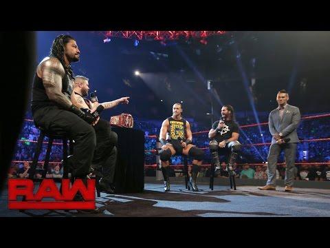 Die Teilnehmer am Fatal 4-Way Match eröffnen die Show: Raw, 29. August 2016