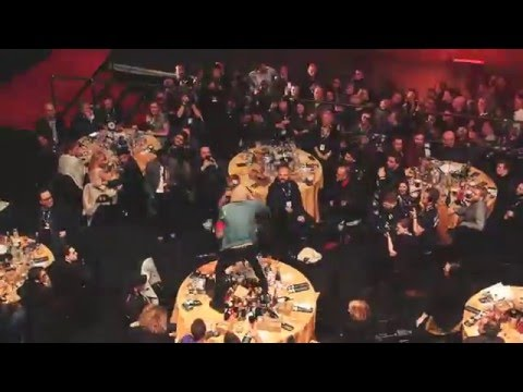 Bring Me the Horizon's Oli Sykes Destroys Coldplay's Table During NME Awards Performance