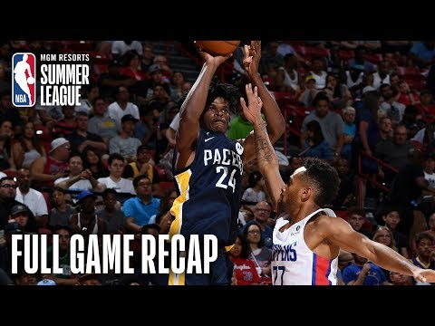 Video: PACERS vs CLIPPERS | Indy Led By Alize Johnson Double-Double | MGM Resorts NBA Summer League