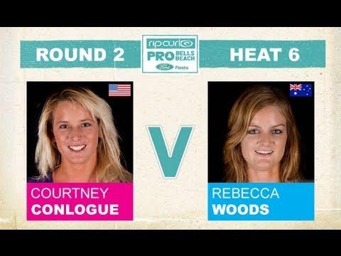 Round 2, Heat 6 - Courtney Conlogue vs Rebecca Woods