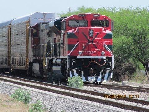 Trenes de Ferromex en Leon, Gto  15 Marzo 2014
