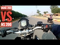 Download Video Duke 200 VS Pulsar NS 200 | Drag race | stunts
