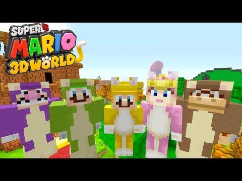Minecraft Switch - Super Mario Series - CAT MARIO INVASION! [195] (видео)