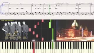 гр. Цветы - Бах творит (Ноты,Видеоурок для фортепиано) (piano cover)
