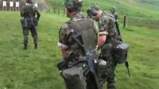 Swiss army shooting training.