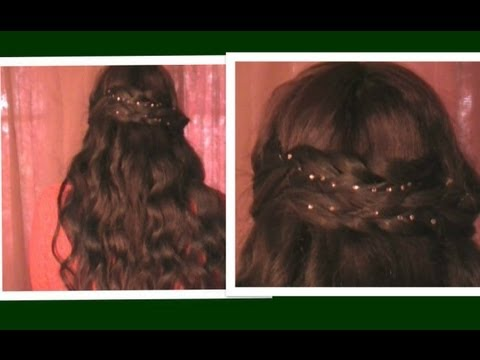 ♥ Bridal Hairstyles Tutorial Crystal Hair:Bling Accessories Review Christmas New Years Eve Holiday