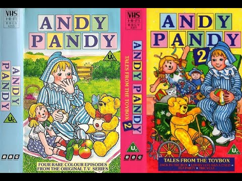 Andy Pandy (BBCV 4205), Andy Pandy 2 - Tales from the Toybox (BBCV 4361) 1988-1990 UK VHS