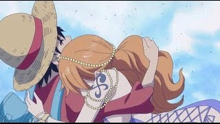 [ One Piece 755 ] - Nami Hugs Luffy