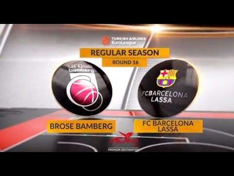 EuroLeague Highlights RS Round 16: Brose Bamberg 85-65 FC Barcelona Lassa