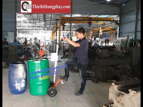 Hướng dẫn sử dụng xe đẩy 4 bánh DE 450D cho thùng phuy sắt Lh 0909 216 299