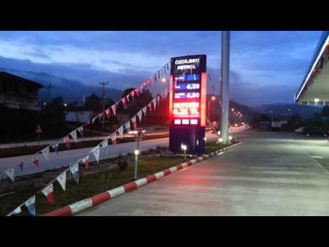 Orjitek Benzinlik Moil P10 grafik ekran düzce