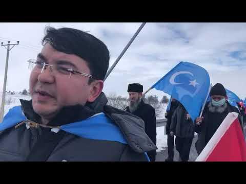 Doğu Türkistan İçin İstanbul'dan Ankara'ya Yürüyüş
