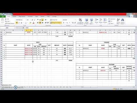 Multi Pressure Vessel Design & Estimation Spreadsheet