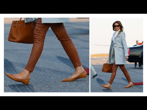 Melania Trump has a RARE moment in Flat Shoes during Finland Trip (видео)