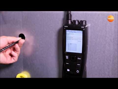 Измерение методом сетки точек в канале вентиляции при помощи testo 480
