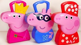 Peppa Pig Jewelry Carrying Case Bedtime and George Pig Super Hero Playset