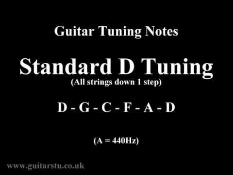 Guitar Tuning Notes – 1 Step Down