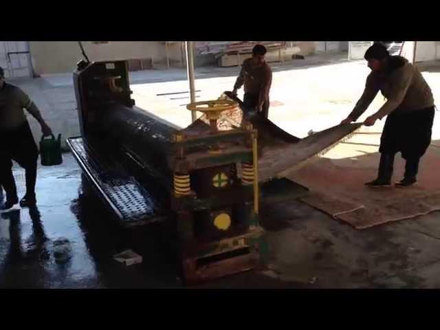 ペルシャ絨毯機械での脱水、乾かす