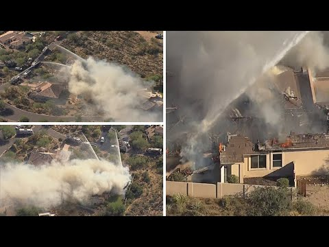 Huge home on fire in north Scottsdale