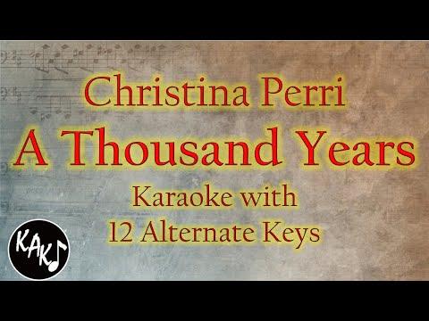 A Thousand Years Karaoke - Christina Perri Instrumental Lower Higher Male Original Key Version