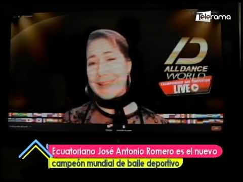 Ecuatoriano José Antonio Romero es el nuevo campeón mundial de baile deportivo