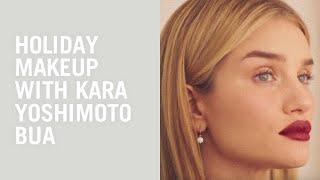 Video Holiday makeup tutorial with Rosie Huntington-Whiteley and Kara Yoshimoto Bua MP3, 3GP, MP4, WEBM, AVI, FLV November 2018