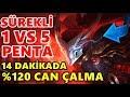 Download Video DAKİKA 14'TE %120 CAN ÇALMA YASUO !?? PENTAKİLL ATTIM !! YASUO 1 VS 5 PENTA MONTAGE FULL İZLE | LoL