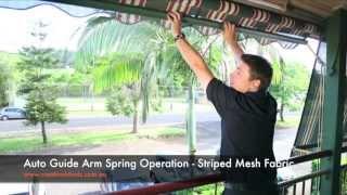 Auto Guide Arm Striped Mesh Fabric