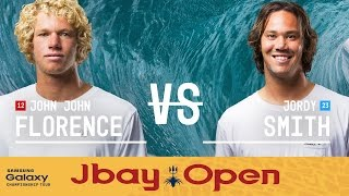 John John Florence battles against Jordy Smith in the Quarterfinals of the J-Bay Open 2016. Subscribe to the WSL for more action: https://goo.gl/VllRuj Watch all ...