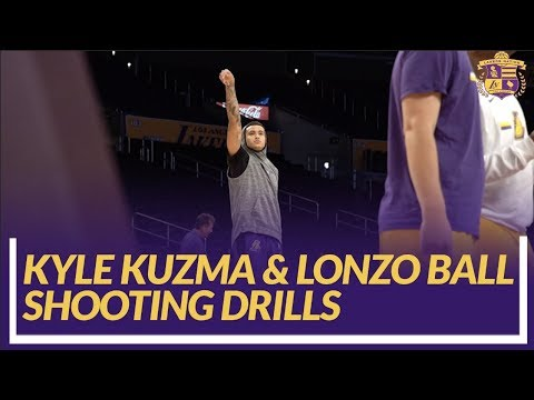 Video: Lakers Nation: Kyle Kuzma & Lonzo Ball Shooting Drills Pre-game