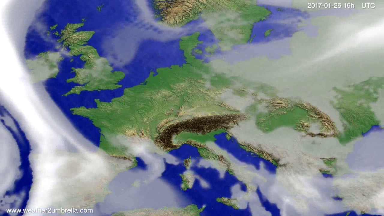 Cloud forecast Europe 2017-01-23