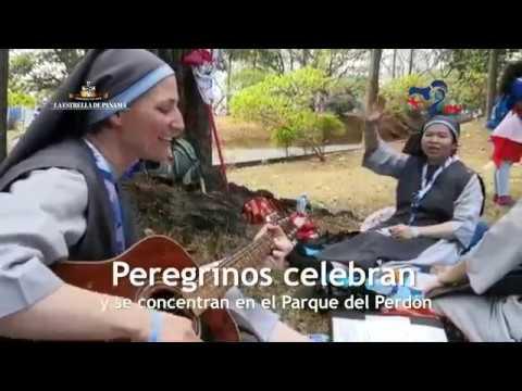 Peregrinos celebran y se concentran en el Parque del Perdón