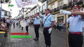 Sanjoaninas 2017 - Desfile de Charangas -  Bombeiros do Faial -  28 de Junho