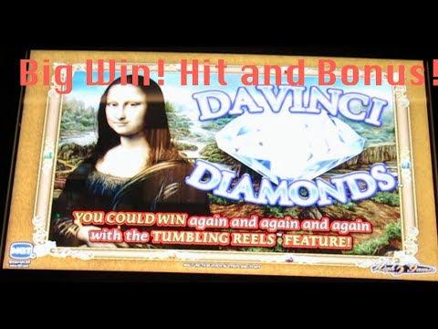 Davinci Diamonds Slot Machine Bonus- Big Win!