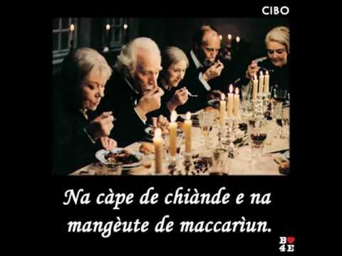 NA CÀPE DE CHIÀNDE E NA MANGÉUTE DE MACCARÌUNE