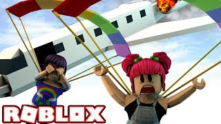 HELP! THE PLANE IS ON FIRE! | Roblox ESCAPE THE PLANE! | Amy Lee33