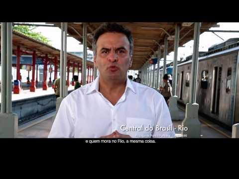Aécio Neves fala sobre desperdício com o trem-bala